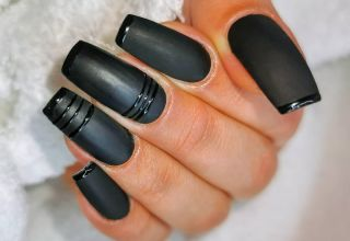 Faux ongles black